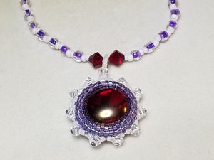 Ruby Bezel Set Necklace