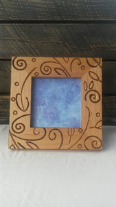 Whimsical Woodburned Photo Frame