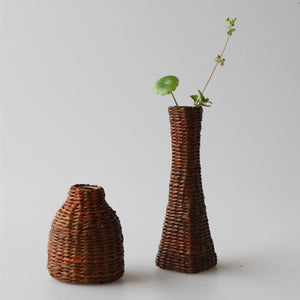 Mill MaisonMill Maison MANTI HANDMADE NATURAL RATTAN WEAVE CERAMIC STONE FLOWER PLANT VASE - Home Decor MANTI HANDMADE NATURAL RATTAN WEAVE CERAMIC STONE FLOWER PLANT VASE - Home Styling Ideas