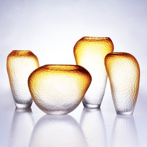 Mill MaisonMill Maison CITRONI CREATIVE CONTEMPORARY RETRO DESIGN TEXTURED AMBER GLASS VASE - Home Decor CITRONI CREATIVE CONTEMPORARY RETRO DESIGN TEXTURED AMBER GLASS VASE - Home Styling Ideas