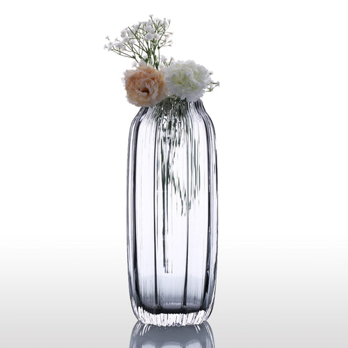 Mill MaisonMill Maison CERINA ELEGANT RIBBED HAND BLOWN GLASS TABLE TOP FLOWER VASE - Home Decor CERINA ELEGANT RIBBED HAND BLOWN GLASS TABLE TOP FLOWER VASE - Home Styling Ideas