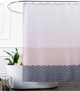 Mill MaisonMill Maison FEMININE PINK PURPLE FABRIC SHOWER BATHTUB CURTAIN ELEGANT WAVE DESIGN - Home Decor FEMININE PINK PURPLE FABRIC SHOWER BATHTUB CURTAIN ELEGANT WAVE DESIGN - Home Styling Ideas