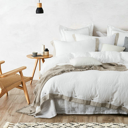 Mill MaisonMill Maison CARLISLE FLAX EDGE 100% FRENCH LINEN DUVET QUILT COVER SET - Home Decor CARLISLE FLAX EDGE 100% FRENCH LINEN DUVET QUILT COVER SET - Home Styling Ideas