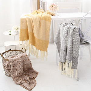 Mill MaisonMill Maison LILIA MODERN LIVING 100% COTTON KNITTED THROW BLANKET - Home Decor LILIA MODERN LIVING 100% COTTON KNITTED THROW BLANKET - Home Styling Ideas