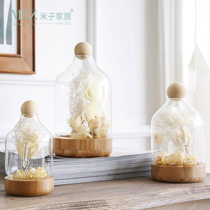 Mill MaisonMill Maison ORLAIN GLASS DOME WOOD FLOWER DECORATIVE DISPLAY HOLDER - Home Decor ORLAIN GLASS DOME WOOD FLOWER DECORATIVE DISPLAY HOLDER - Home Styling Ideas