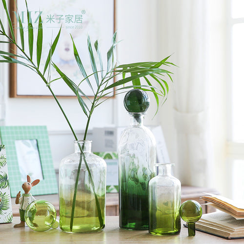 Mill MaisonMill Maison LEENO BOTANICAL GREEN DECORATIVE FLOWER BOTTLE VASE - Home Decor LEENO BOTANICAL GREEN DECORATIVE FLOWER BOTTLE VASE - Home Styling Ideas