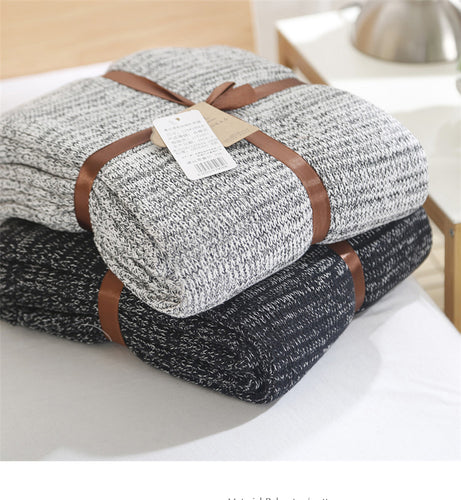Mill MaisonMill Maison CINZA CASUAL STYLISH COTTON KNIT THROW BLANKET - Home Decor CINZA CASUAL STYLISH COTTON KNIT THROW BLANKET - Home Styling Ideas