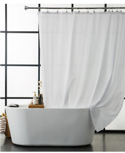 Mill MaisonMill Maison CLEAN SIMPLE SOLID WHITE FABRIC SHOWER BATHTUB CURTAIN - Home Decor CLEAN SIMPLE SOLID WHITE FABRIC SHOWER BATHTUB CURTAIN - Home Styling Ideas