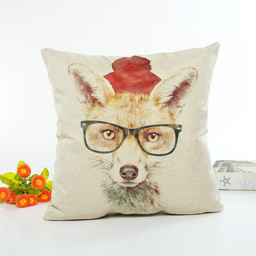Mill MaisonMill Maison CLEVER FOX ILLUSTRATION DECORATIVE ART LINEN CUSHION COVER - Home Decor CLEVER FOX ILLUSTRATION DECORATIVE ART LINEN CUSHION COVER - Home Styling Ideas