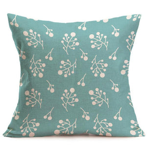 Mill MaisonMill Maison FLOATING TWIG DECORATIVE LINEN TEAL CUSHION COVER - Home Decor FLOATING TWIG DECORATIVE LINEN TEAL CUSHION COVER - Home Styling Ideas
