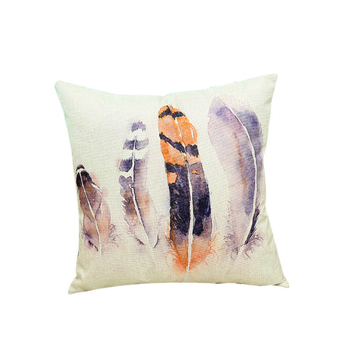 Mill MaisonMill Maison VIBRANT FEATHER ART ILLUSTRATION MODERN CUSHION COVER - Home Decor VIBRANT FEATHER ART ILLUSTRATION MODERN CUSHION COVER - Home Styling Ideas