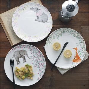 Mill MaisonMill Maison TOBY RHINOCEROS, MISHA ELEPHANT & JACK FOX ARTISTRY BONE CHINA CERAMIC DINNERWARE PLATES - Home Decor TOBY RHINOCEROS, MISHA ELEPHANT & JACK FOX ARTISTRY BONE CHINA CERAMIC DINNERWARE PLATES - Home Styling Ideas