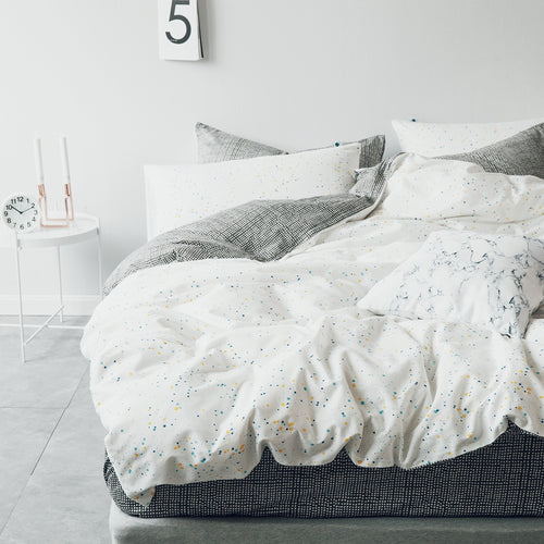 Mill MaisonMill Maison PIPER MINIMALISTIC CONTEMPORARY CREATIVE DESIGN 100% COTTON REVERSIBLE DUVET QUILT COVER SET - Home Decor PIPER MINIMALISTIC CONTEMPORARY CREATIVE DESIGN 100% COTTON REVERSIBLE DUVET QUILT COVER SET - Home Styling Ideas