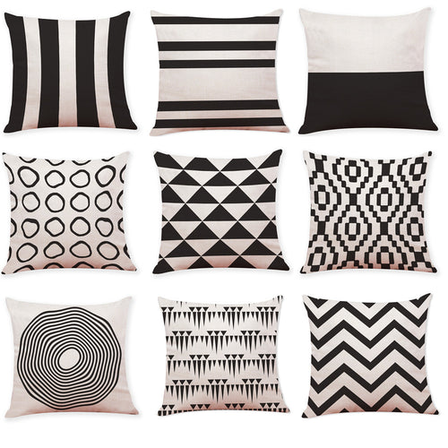 Mill MaisonMill Maison DECORATIVE BLACK AND WHITE CONTEMPORARY DESIGN CUSHION COVERS - Home Decor DECORATIVE BLACK AND WHITE CONTEMPORARY DESIGN CUSHION COVERS - Home Styling Ideas