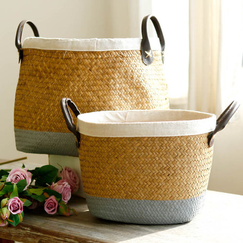 Mill MaisonMill Maison SANDER NATURAL SEAGRASS WOVEN WICKER PLANT FLOWER HOLDER STORAGE BASKET - Home Decor SANDER NATURAL SEAGRASS WOVEN WICKER PLANT FLOWER HOLDER STORAGE BASKET - Home Styling Ideas