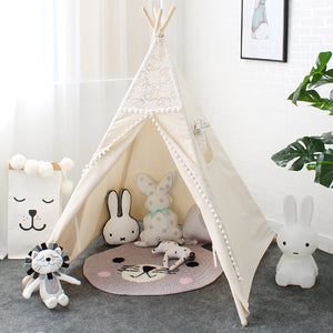 Mill MaisonMill Maison TUKEE LACE INDIAN TIPI TEEPEE PLAY TENT FOLDABLE CHILDREN KIDS PLAYHOUSE - Home Decor TUKEE LACE INDIAN TIPI TEEPEE PLAY TENT FOLDABLE CHILDREN KIDS PLAYHOUSE - Home Styling Ideas