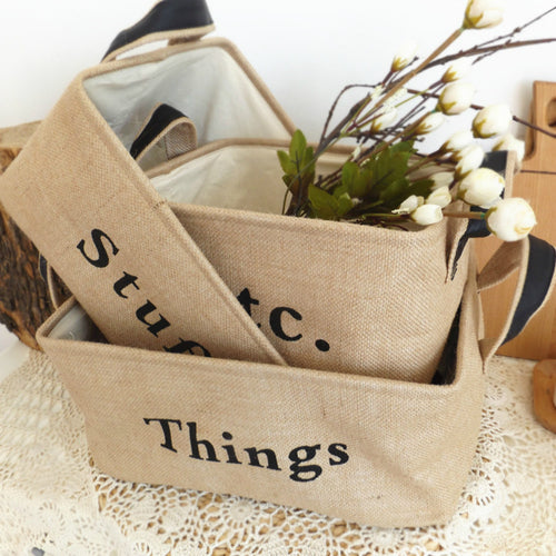 Mill MaisonMill Maison MASON FARMHOUSE CANVAS LINEN MULIT-PURPOSE HOME ORGANIZER STORAGE HAMPER BASKET BIN - Home Decor MASON FARMHOUSE CANVAS LINEN MULIT-PURPOSE HOME ORGANIZER STORAGE HAMPER BASKET BIN - Home Styling Ideas