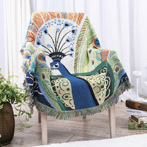 Mill MaisonMill Maison MILAH SOUTHEAST ASIA INSPIRED PEACOCK ARTISTRY HEAVY KNIT DECORATIVE THROW BLANKET TAPESTRY - Home Decor MILAH SOUTHEAST ASIA INSPIRED PEACOCK ARTISTRY HEAVY KNIT DECORATIVE THROW BLANKET TAPESTRY - Home Styling Ideas