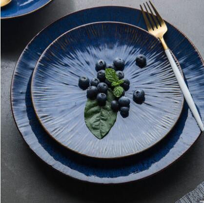 Mill MaisonMill Maison SENSA INDIGO BLUE TEXTURE CERAMIC DINNERWARE SERVING PLATE - Home Decor SENSA INDIGO BLUE TEXTURE CERAMIC DINNERWARE SERVING PLATE - Home Styling Ideas