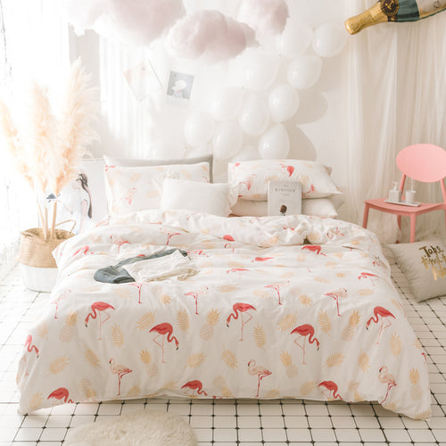Mill MaisonMill Maison HARRIET FLAMINGO ARTISTRY 100% COTTON DUVET QUILT COVER SET - Home Decor HARRIET FLAMINGO ARTISTRY 100% COTTON DUVET QUILT COVER SET - Home Styling Ideas