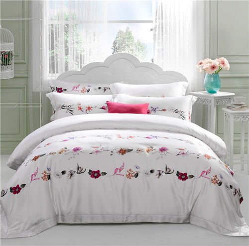 Mill MaisonMill Maison FLORA ROSA ARTISTRY FLORAL EMBROIDERY DUVET QUILT COVER SET - Home Decor FLORA ROSA ARTISTRY FLORAL EMBROIDERY DUVET QUILT COVER SET - Home Styling Ideas
