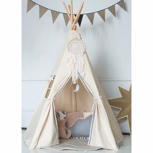 Mill MaisonMill Maison MATON LARGE UNBLEACHED CANVAS INDIAN TIPI TEEPEE PLAY TENT FOLDABLE CHILDREN KIDS PLAYHOUSE - Home Decor MATON LARGE UNBLEACHED CANVAS INDIAN TIPI TEEPEE PLAY TENT FOLDABLE CHILDREN KIDS PLAYHOUSE - Home Styling Ideas