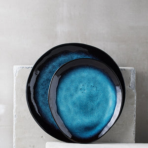 Mill MaisonMill Maison ILLIA MODERN JAPANESE INSPIRED IRREGULAR CERAMIC PORCELAIN GLAZED DINNERWARE PLATE - Home Decor ILLIA MODERN JAPANESE INSPIRED IRREGULAR CERAMIC PORCELAIN GLAZED DINNERWARE PLATE - Home Styling Ideas