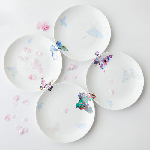 Mill MaisonMill Maison BELLA CREATIVE COLORFUL BUTTERFLY  BONE CHINA CERAMIC 4 PIECE DINNERWARE PLATE SET - Home Decor BELLA CREATIVE COLORFUL BUTTERFLY  BONE CHINA CERAMIC 4 PIECE DINNERWARE PLATE SET - Home Styling Ideas