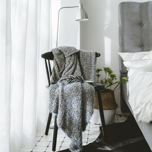 Mill MaisonMill Maison SORINA BLUE GREY SOFT WOOLY HAND KNITTED THROW BLANKET - Home Decor SORINA BLUE GREY SOFT WOOLY HAND KNITTED THROW BLANKET - Home Styling Ideas