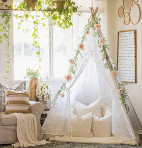 Mill MaisonMill Maison ZOHEY SHEER LACE INDIAN TIPI TEEPEE PLAY TENT FOLDABLE CHILDREN KIDS GIRLS PLAYHOUSE - Home Decor ZOHEY SHEER LACE INDIAN TIPI TEEPEE PLAY TENT FOLDABLE CHILDREN KIDS GIRLS PLAYHOUSE - Home Styling Ideas