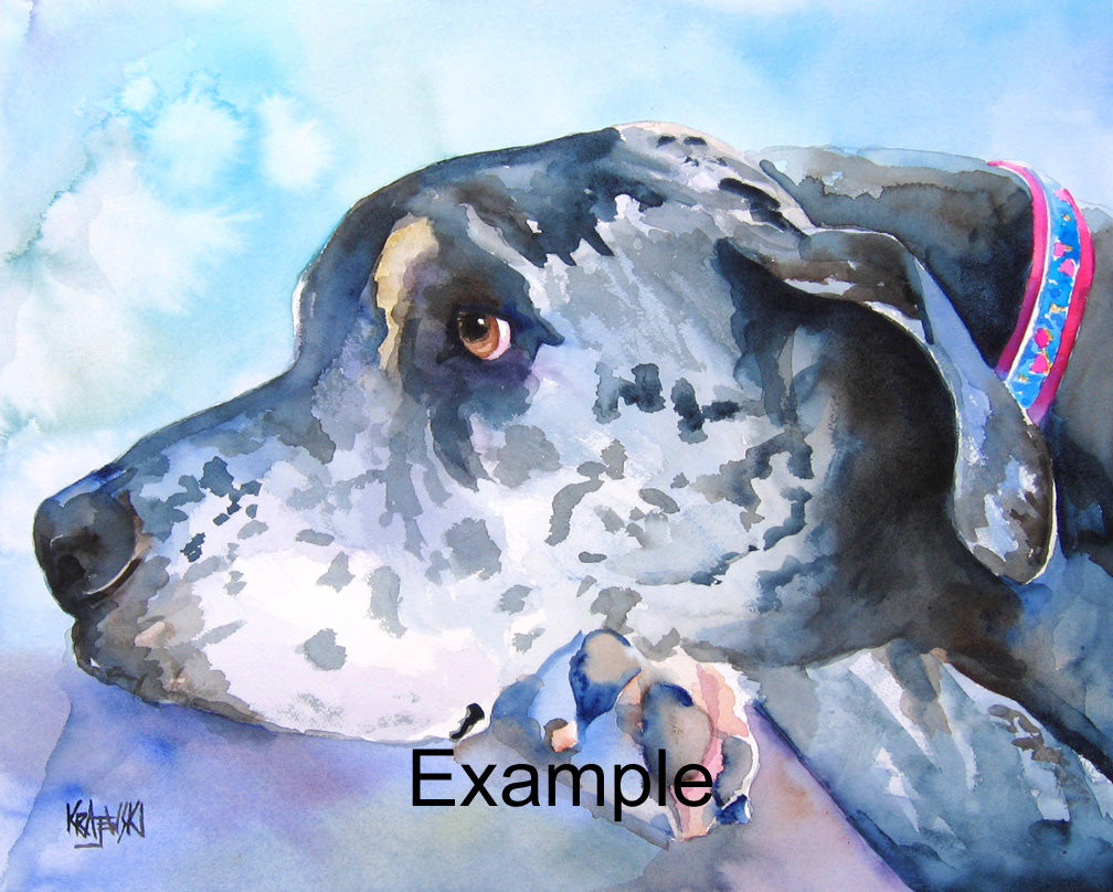 "16x20"" Custom Watercolor Pet Portrait - Ron Krajewski Art"