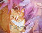 "11x14"" Custom Watercolor Pet Portrait - Ron Krajewski Art"