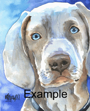 Custom Pet Portraits from photos by Ron Krajewski