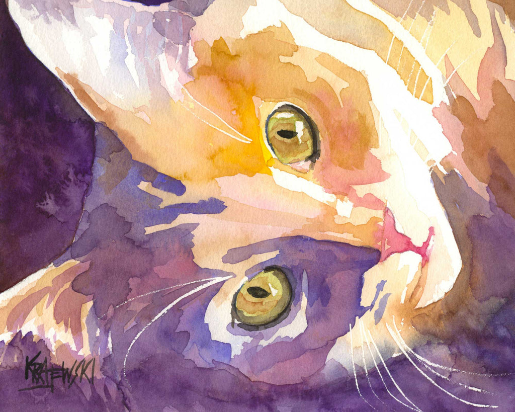 Long Haired Cat 061606 - Ron Krajewski Art