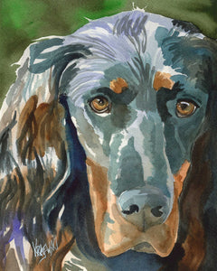 Gordon Setter Art Print - Ron Krajewski Art