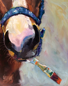 Metro the Painting Racehorse - Ron Krajewski Art