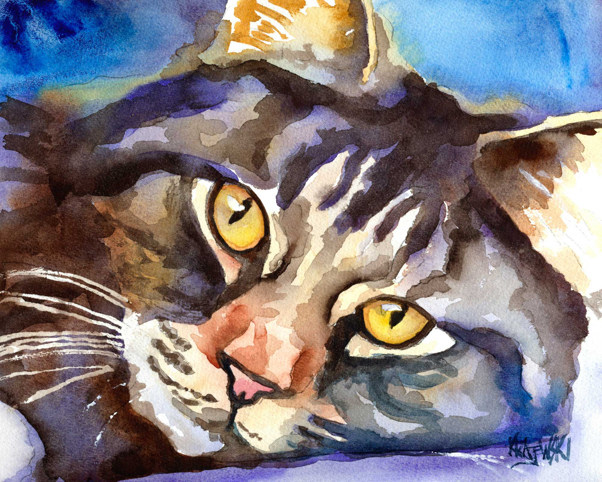 Norwegian Forest Cat 111207 - Ron Krajewski Art