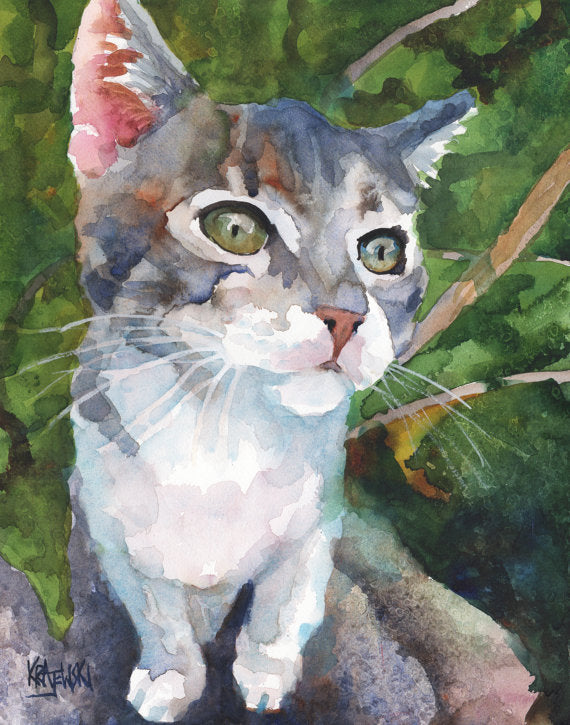 Tabby Cat - Ron Krajewski Art