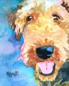 Airedale Art Print painting