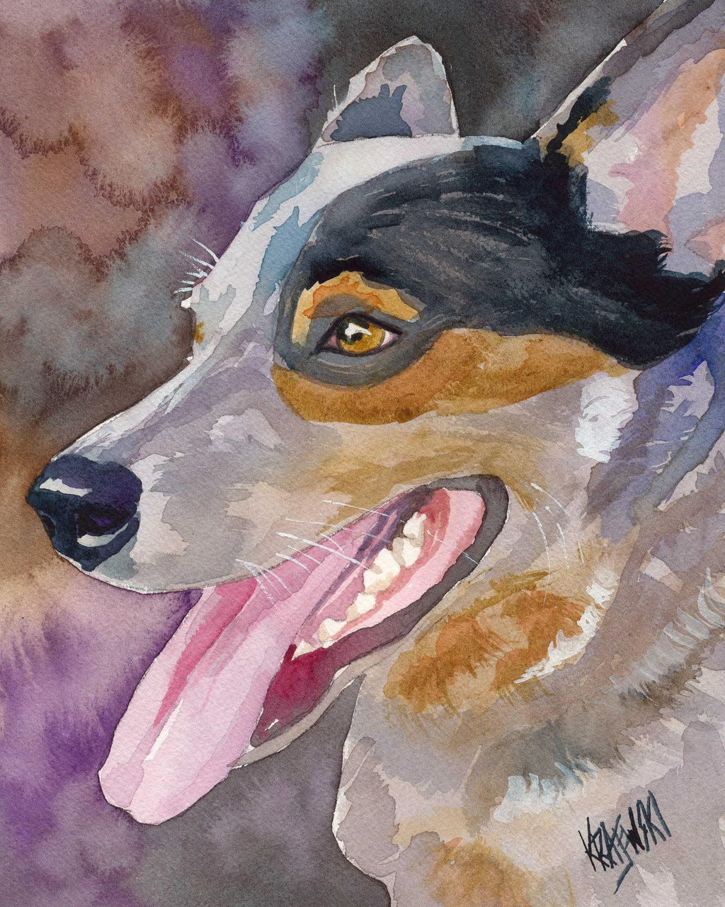 Australian Cattle Dog Art Print - Ron Krajewski Art