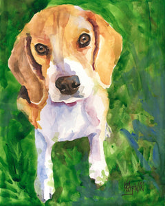 Beagle Art Print - Ron Krajewski Art