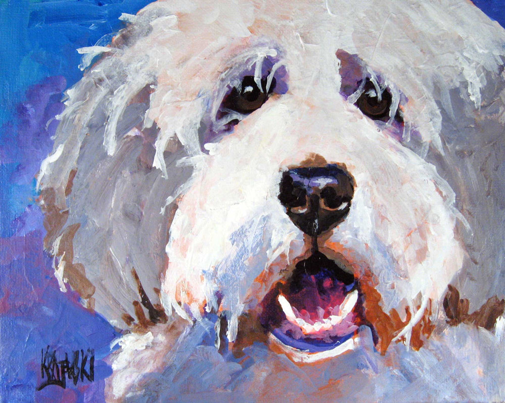 Bearded Collie Art Print - Ron Krajewski Art
