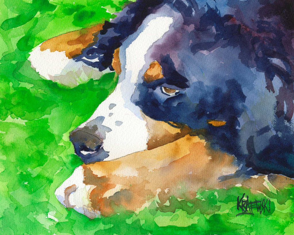Bernese Mountain Dog Art Print - Ron Krajewski Art