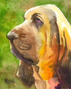 Bloodhound Art Print - Ron Krajewski Art