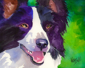 Border Collie Art Print - Ron Krajewski Art
