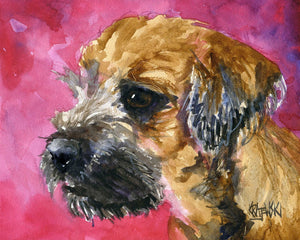 Border Terrier Art Print - Ron Krajewski Art