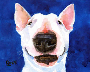 Bull Terrier Art Print - Ron Krajewski Art