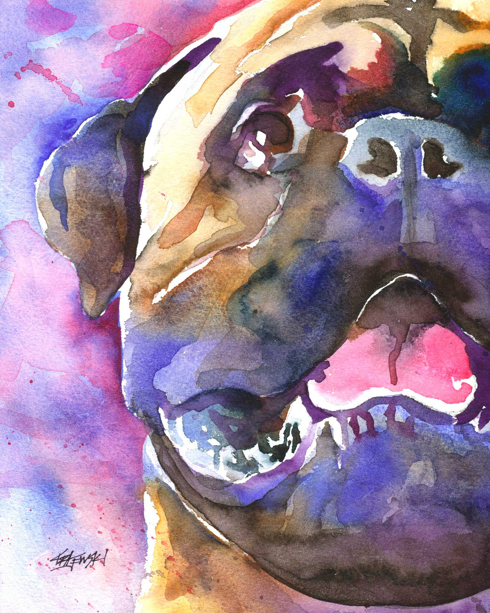 Bullmastiff Art Print - Ron Krajewski Art