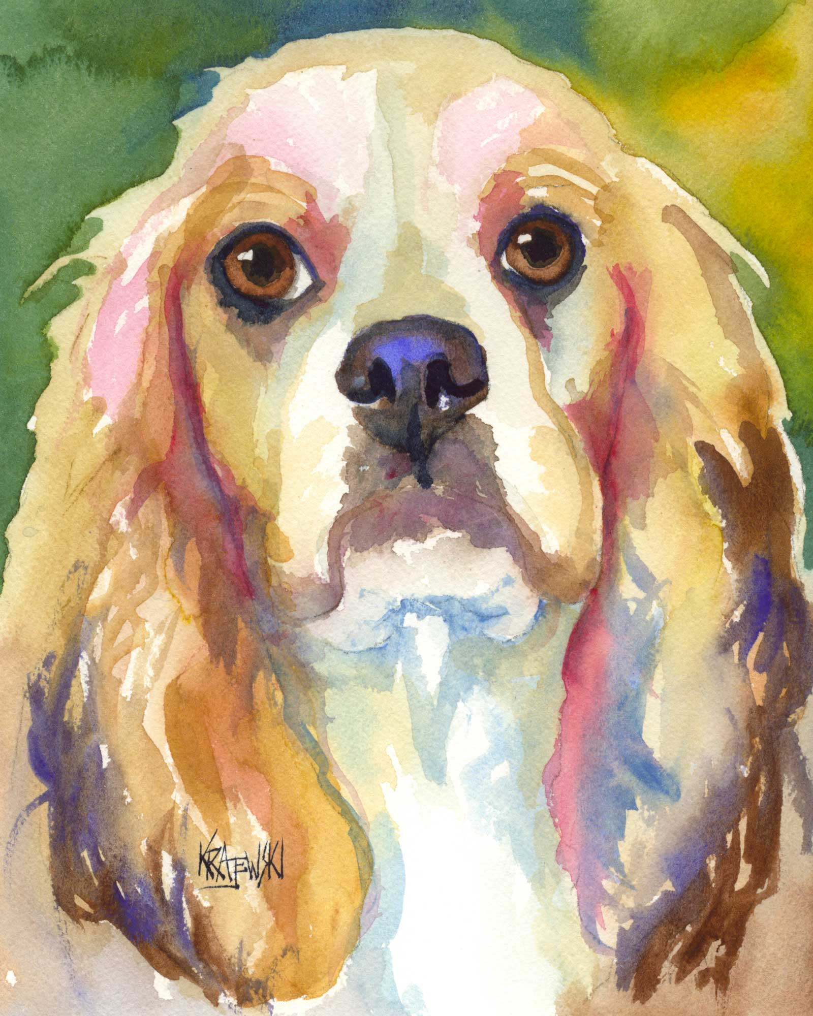 Cocker Spaniel Art Print - Ron Krajewski