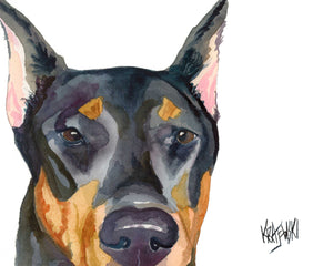 Doberman Pinscher Art Print - Ron Krajewski Art